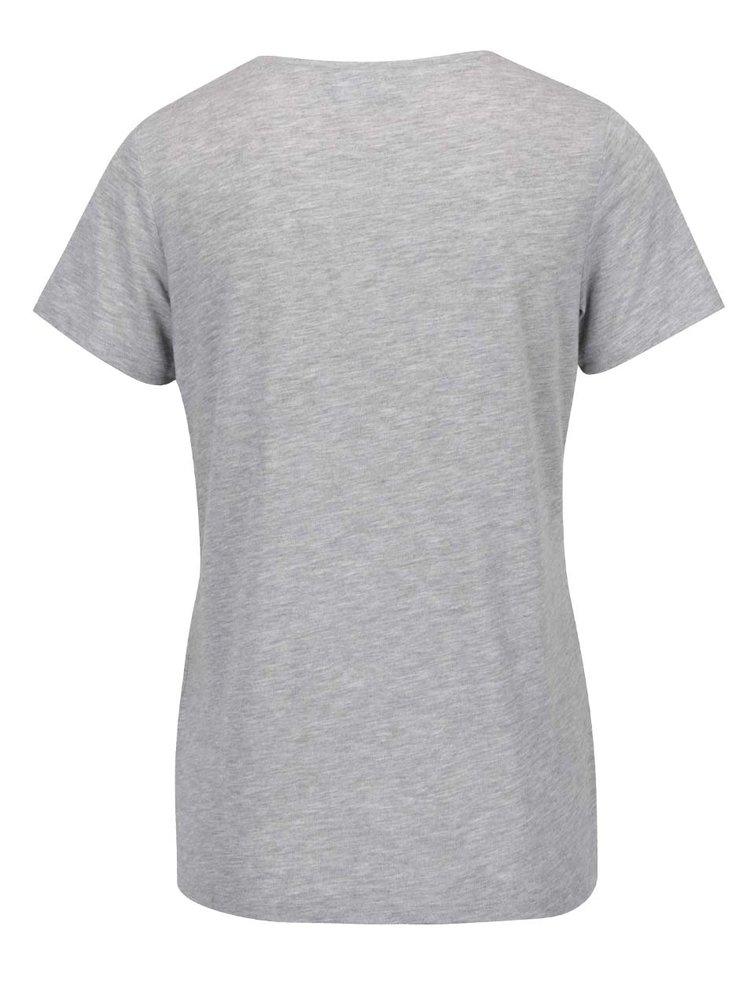 Šedé žíhané tričko s ozdobou Dorothy Perkins