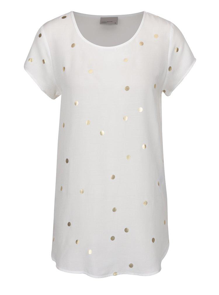 Bluza alb fildes cu buline aurii VERO MODA Boca