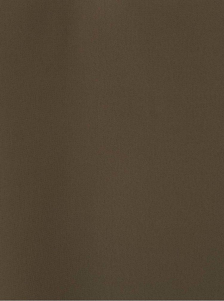 Khaki tílko s korálkovou aplikací VERO MODA Betty