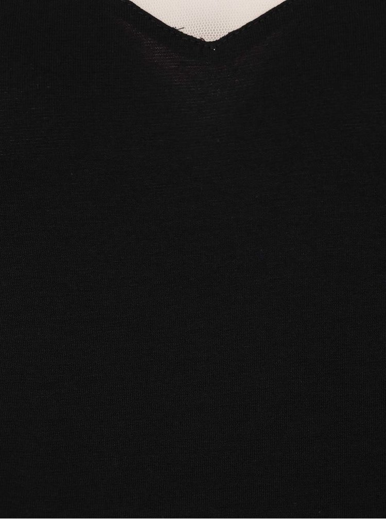 Rochie negru&roz pal Noisy May Trinna  cu aspect 2in1