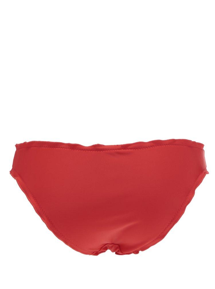 Červený spodní díl plavek s volány VERO MODA Anya