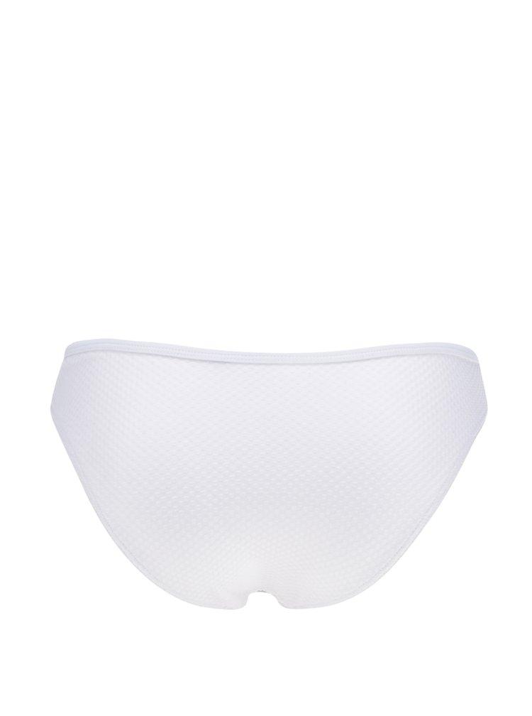 Bílý spodní díl plavek s volány VERO MODA Suzy