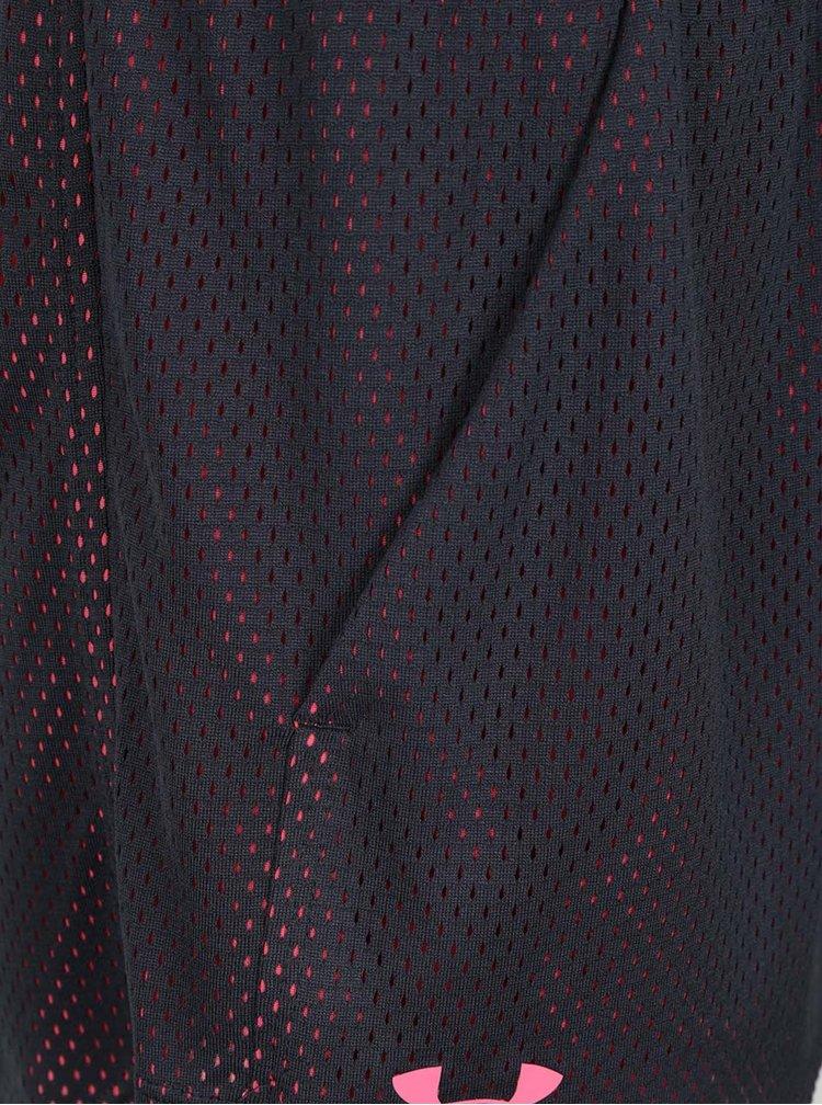 Pantaloni scurti sport roz&negruUnder Armour Mesh Play Up pentru femei