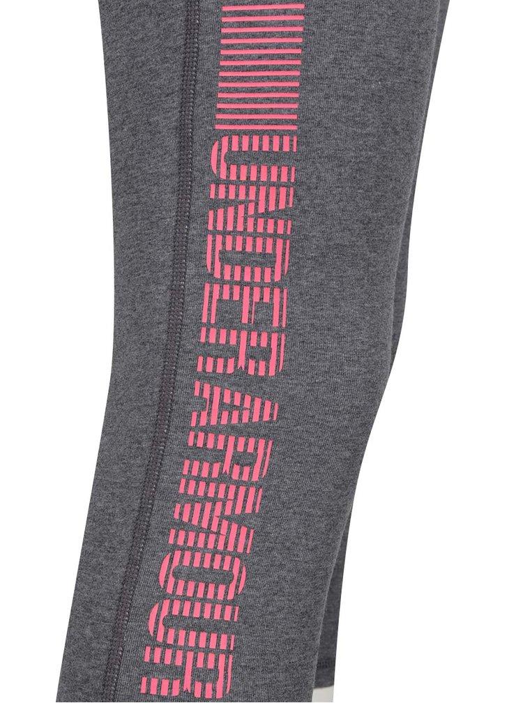 Colanți sport 3/4 gri cu detaliu roz Under Armour Favorite pentru femei