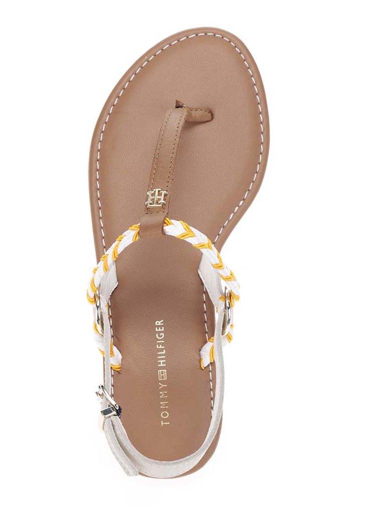 Oranžovo-krémové dámské sandály Tommy Hilfiger