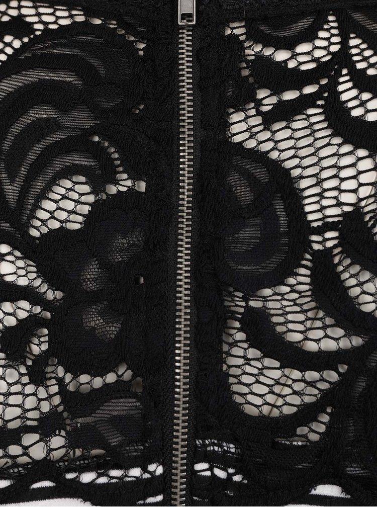 Černé těhotenské pruhované šaty s krajkou Mama.licious Blackie