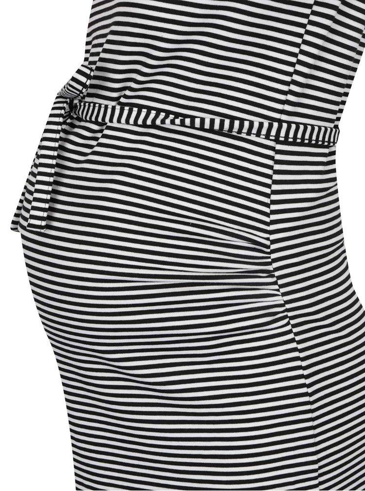 Rochie neagru&alb Mama.licious Blackie pentru gravide cu aplicație din dantelă