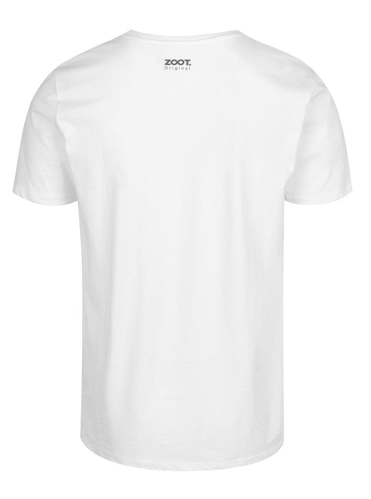 Bílé pánské triko s potiskem ZOOT Originál