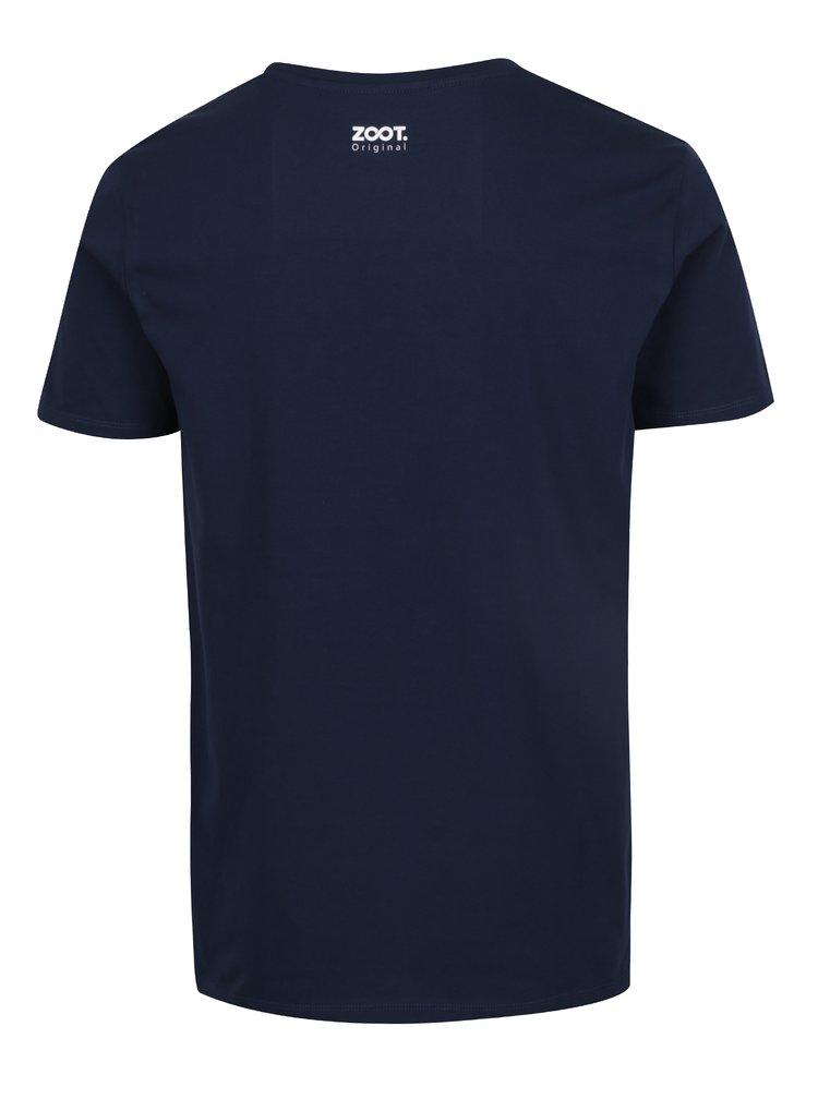Modré pánské tričko ZOOT Originál  Rád soulodím