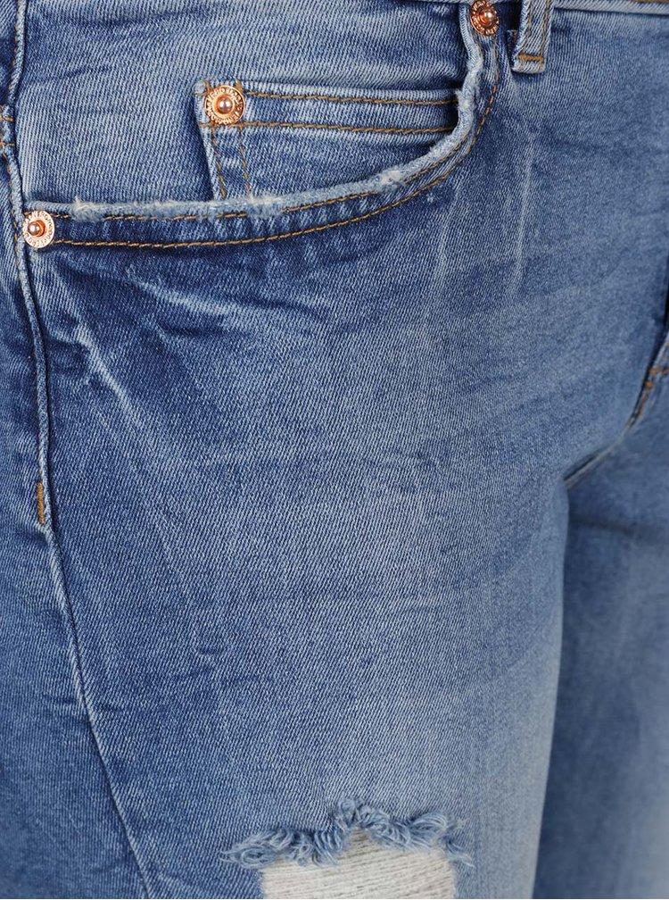 Modré džíny s potrhaným efektem VERO MODA Ten