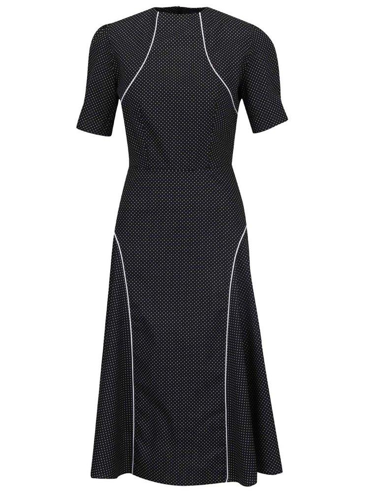 Černé puntíkované šaty s krátkým rukávem Lazy Eye Herberta