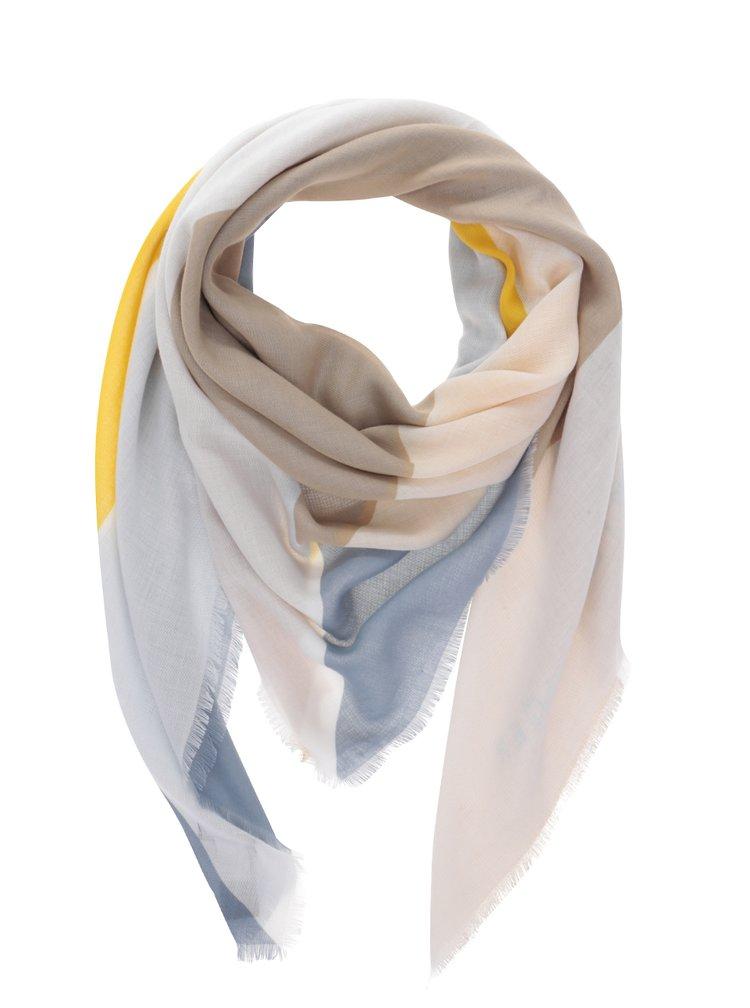 Dámský šátek v béžové, žluté, modré a krémové barvě Tommy Hilfiger