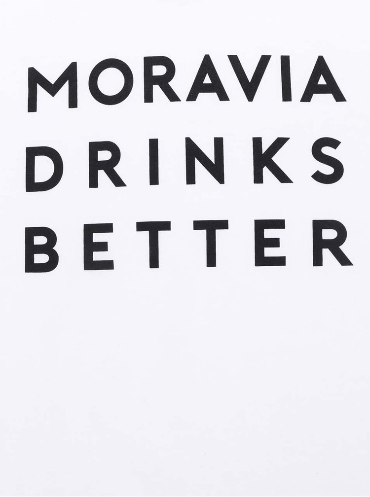 Bílé dámské tričko  ZOOT Originál Moravia Drinks Better