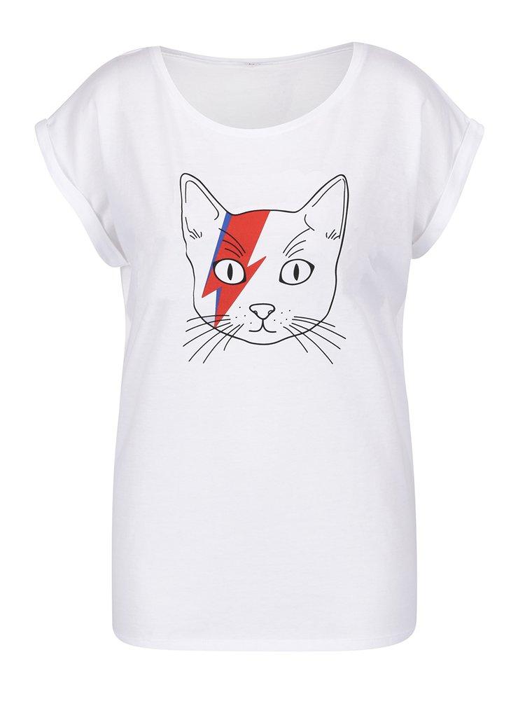 Bílé dámské tričko s potiskem ZOOT Originál Mowie