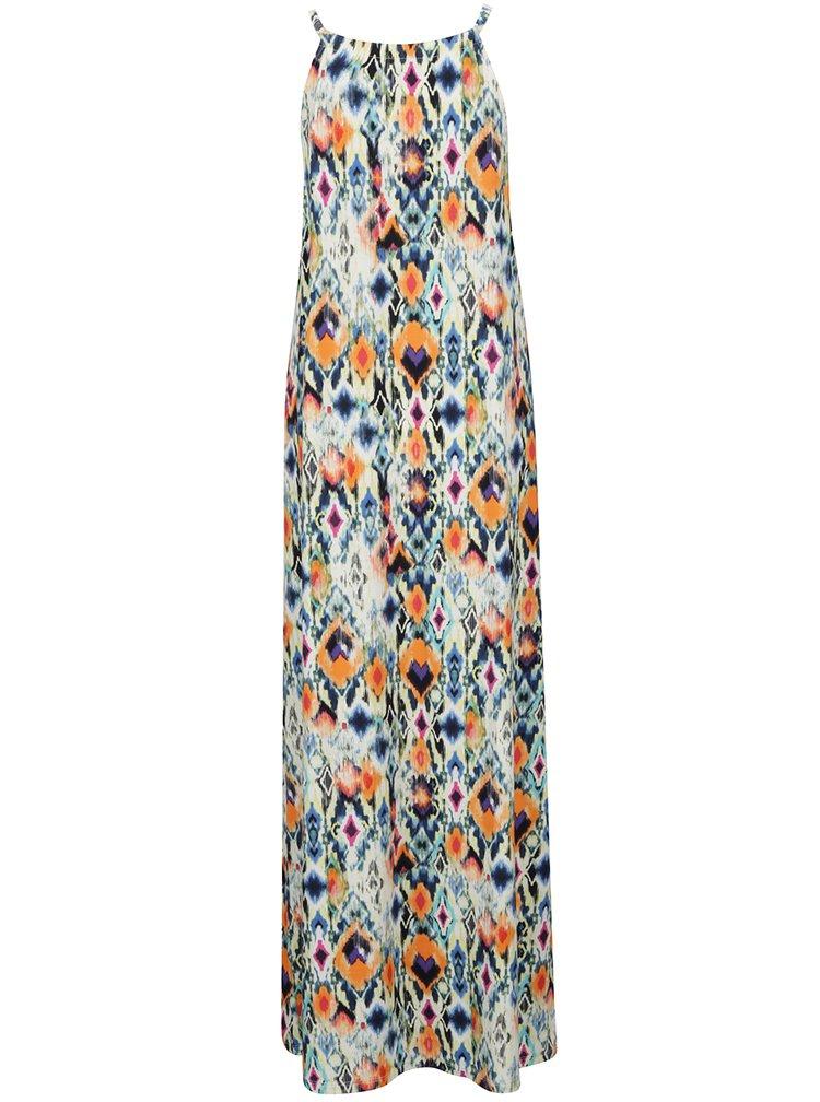 Modro-oranžové vzorované maxišaty Yest