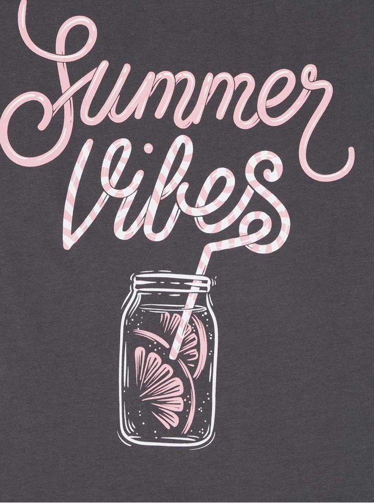 Tricou gri din bumbac organic ZOOT Originál Summer Vibes pentru femei
