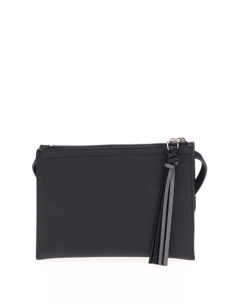 Černá crossbody kabelka s kovovým logem Tommy Hilfiger