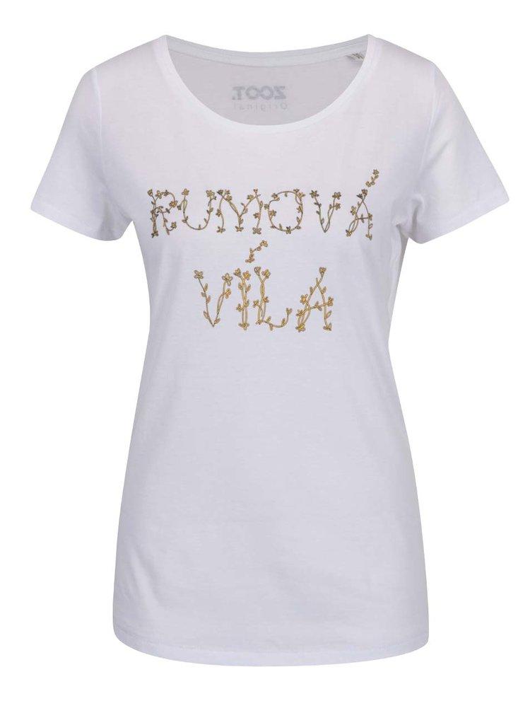 Biele dámske tričko Rumová víla ZOOT Originál
