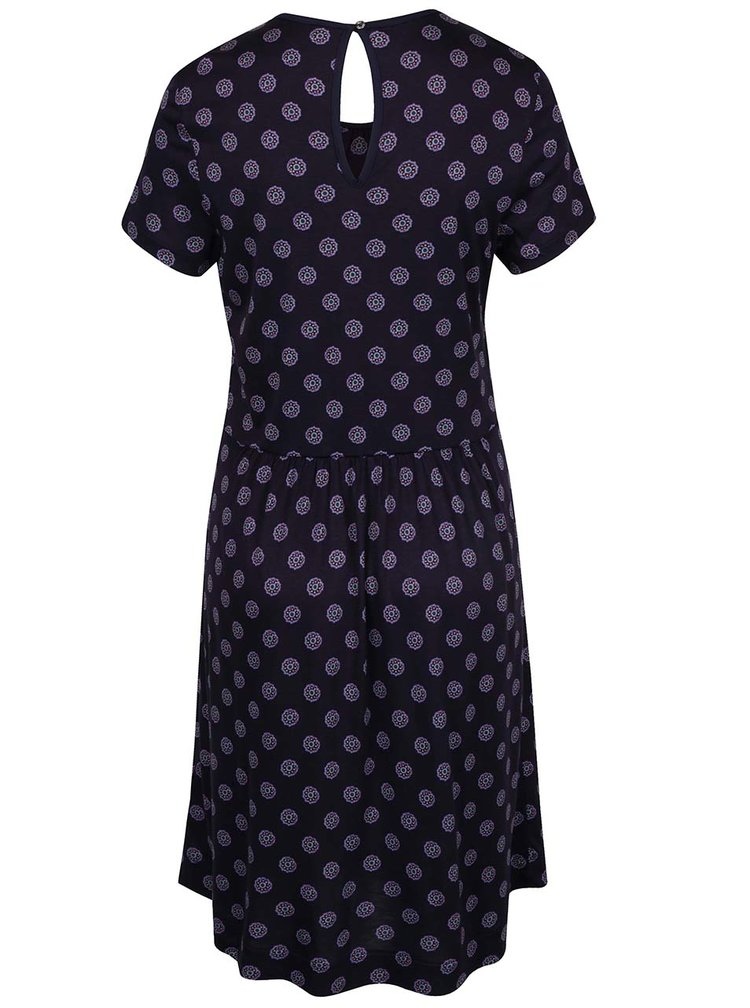Tmavě modré vzorované šaty Tommy Hilfiger