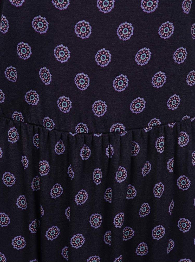 Tmavomodré vzorované šaty Tommy Hilfiger