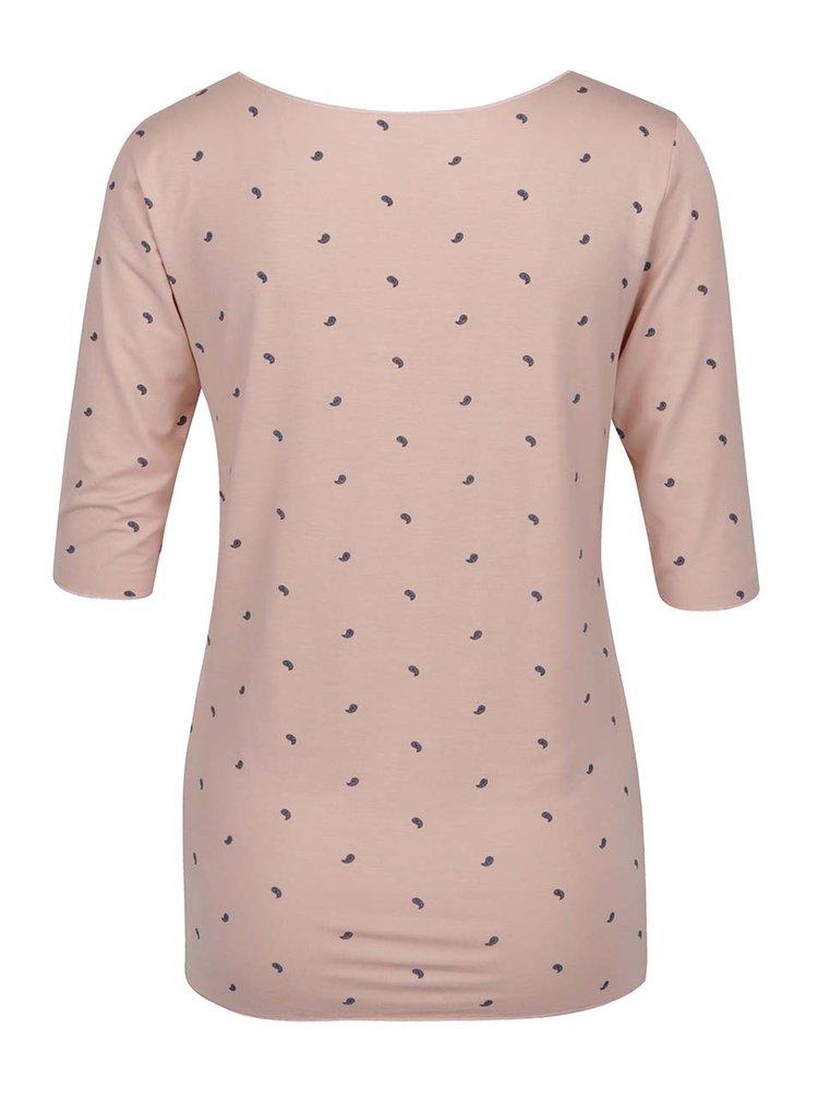 Růžové vzorované tričko Tommy Hilfiger