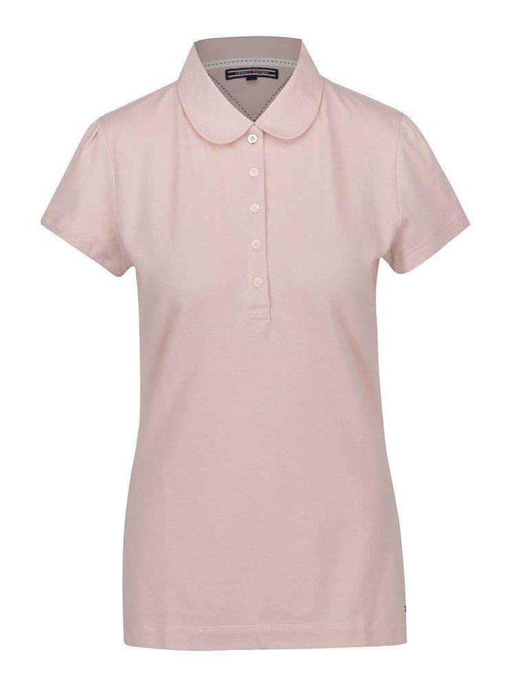 Růžové dámské polo tričko Tommy Hilfiger
