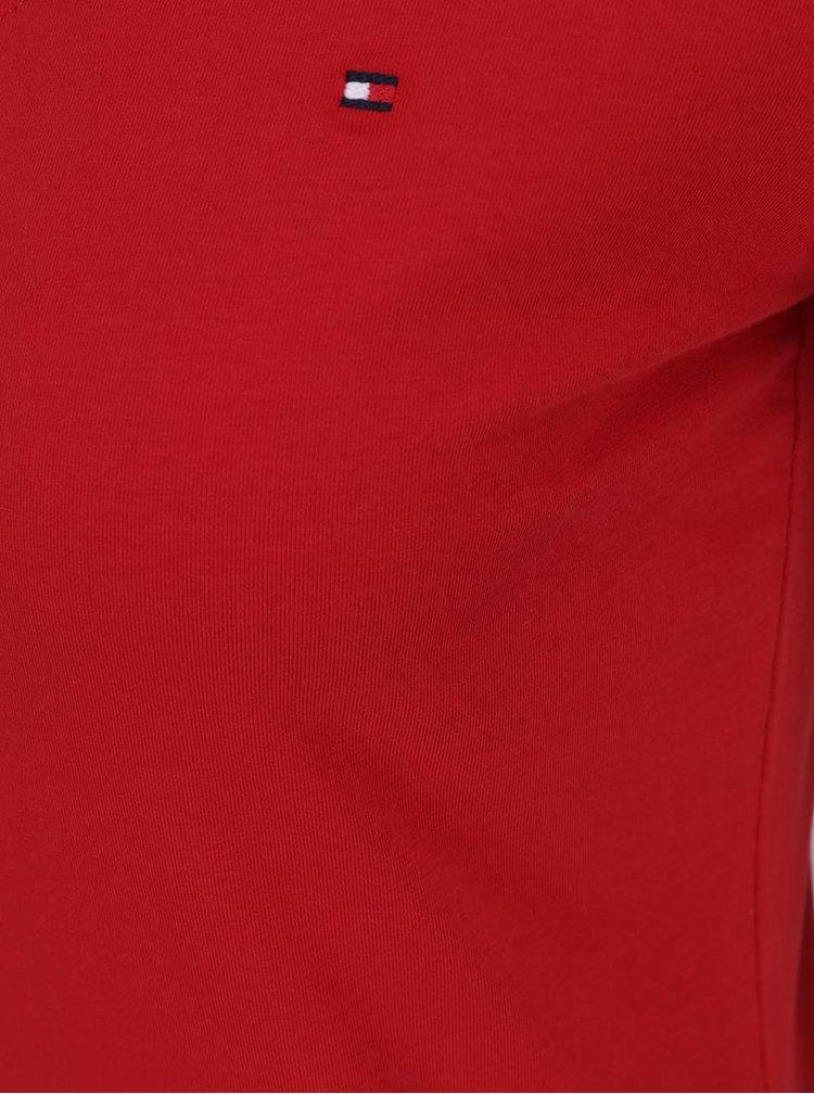 Červené dámske tričko s krátkym rukávom Tommy Hilfiger