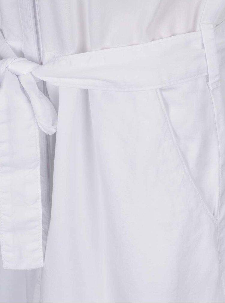 Bílé midišaty bez rukávů s páskem Tommy Hilfiger