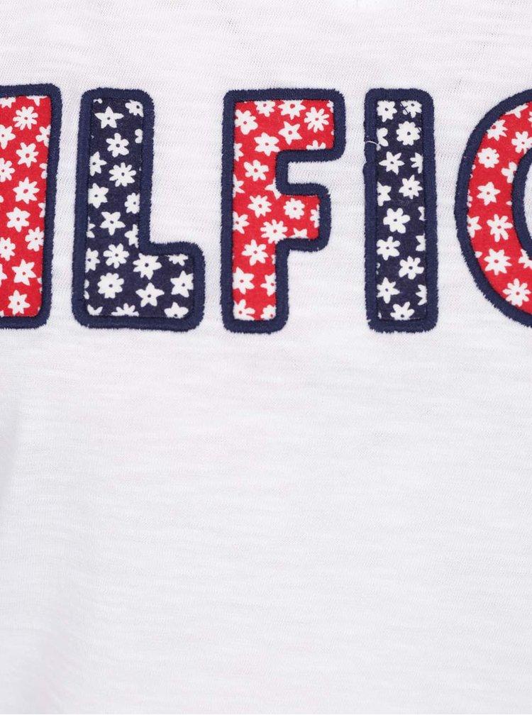 Bílé dámské tričko s výšivkou Tommy Hilfiger
