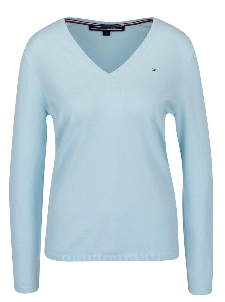 Modrý dámsky ľahký sveter Tommy Hilfiger