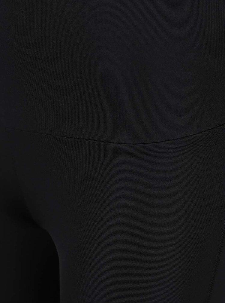 Černé legíny s průsvitnými detaily Denay
