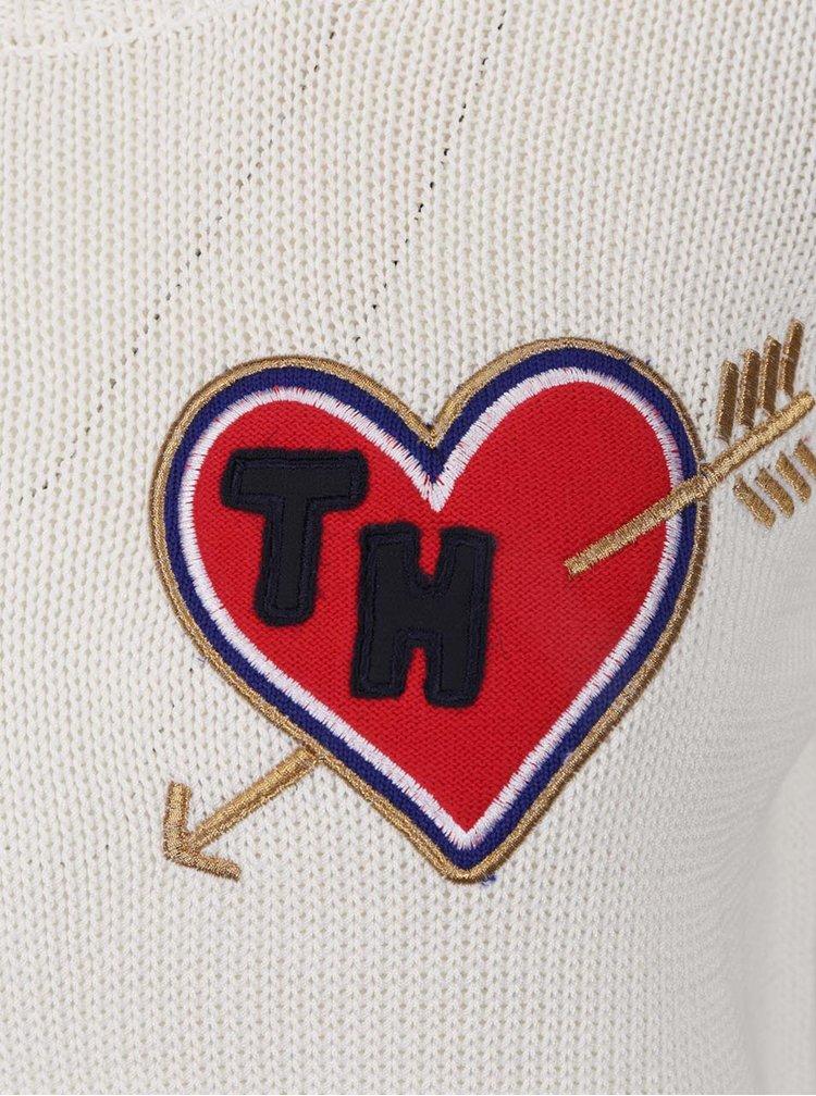 Krémový dámský svetr s nášivkou Tommy Hilfiger