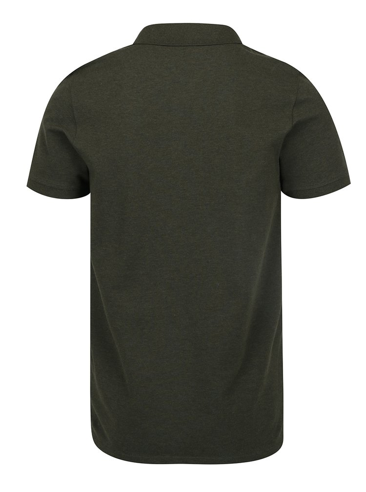 Tmavě zelené polo triko Selected Homme Haro