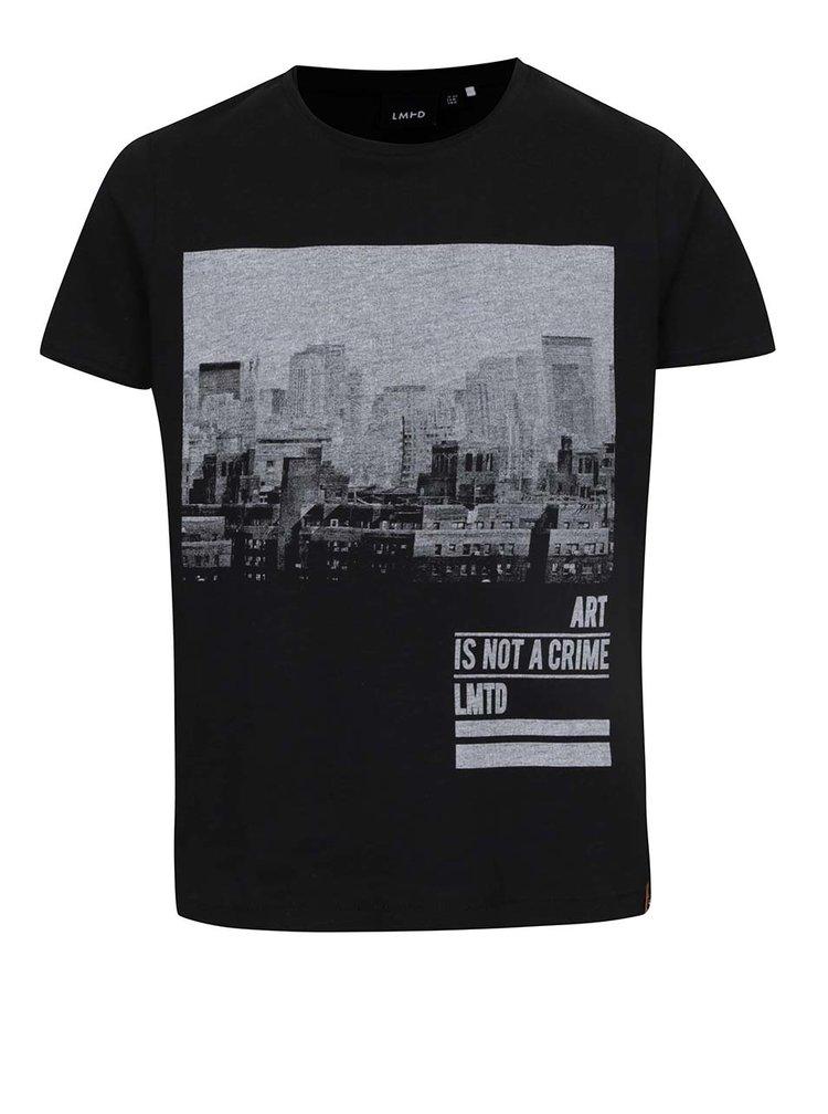 Čierne chlapčenské tričko s potlačou LIMITED by name it Ovan