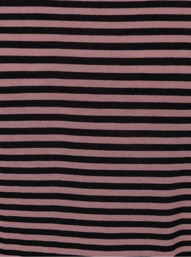 Tricou roz&negru Jacqueline de Yong Spirit cu model în dungi