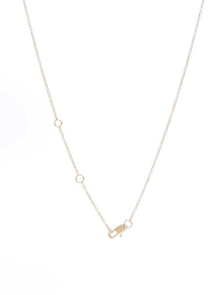 Colier auriu Pieces Joana cu pandantiv rotund