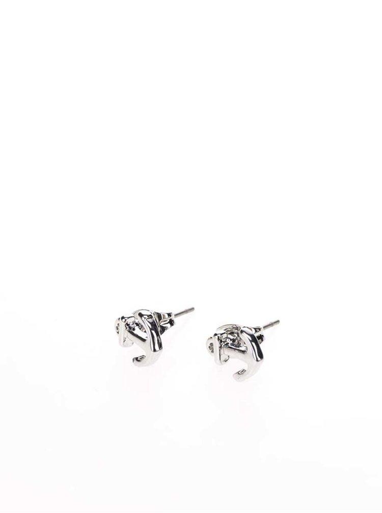 Náušnice ve tvaru kotviček ve stříbrné barvě Pieces Miriam