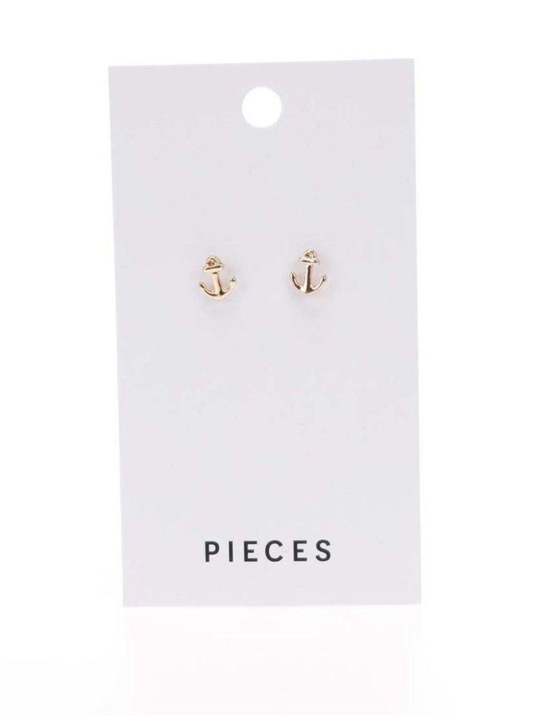 Cercei aurii  Pieces Miriam cu formă de ancore