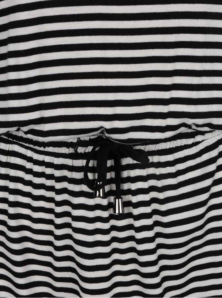Čierno-biele pruhované šaty Jacqueline de Yong Spirit