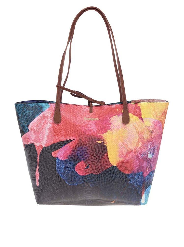 Modro-červený shopper s crossbody kabelkou Desigual Capri Aquarelle