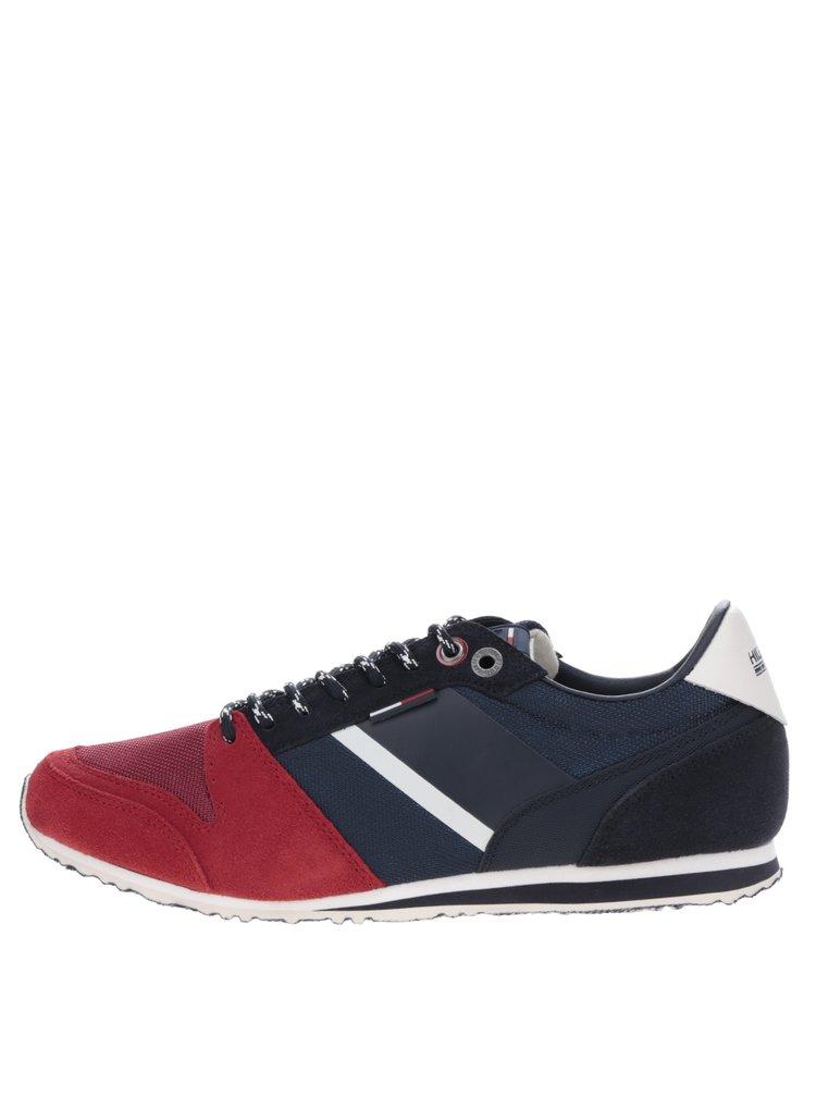 Červeno-modré pánské tenisky se semišovými detaily Tommy Hilfiger