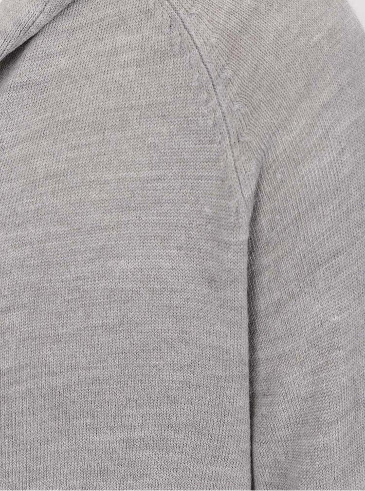 Světle šedý dlouhý kardigan Jacqueline de Yong Nona