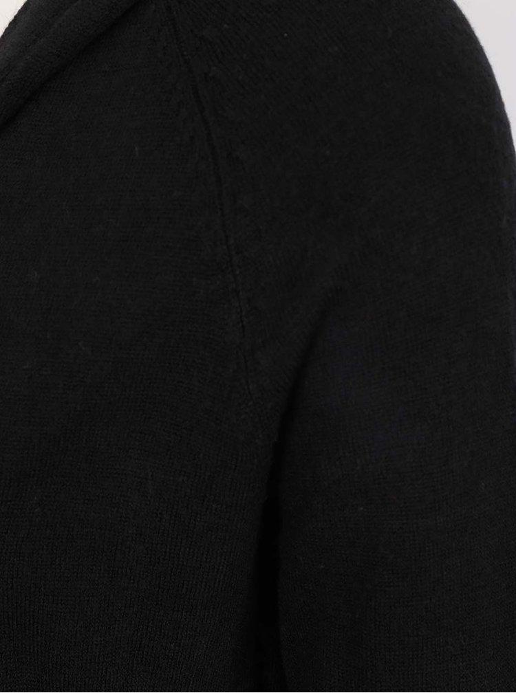 Cardigan negru Jacqueline de Yong Nona cu glugă