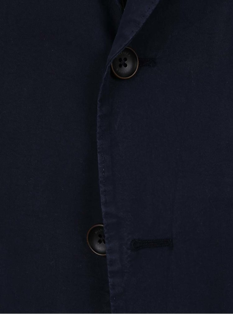 Tmavě modré pánské sako Tommy Hilfiger