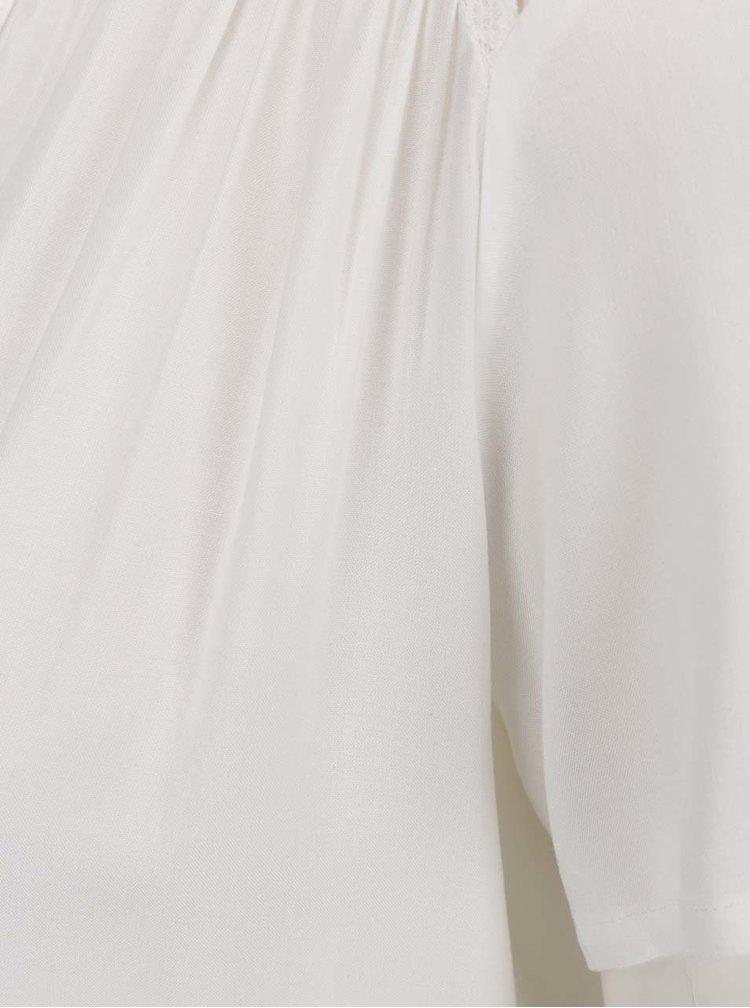 Krémová halenka s krajkou na zádech Jacqueline de Yong Liva