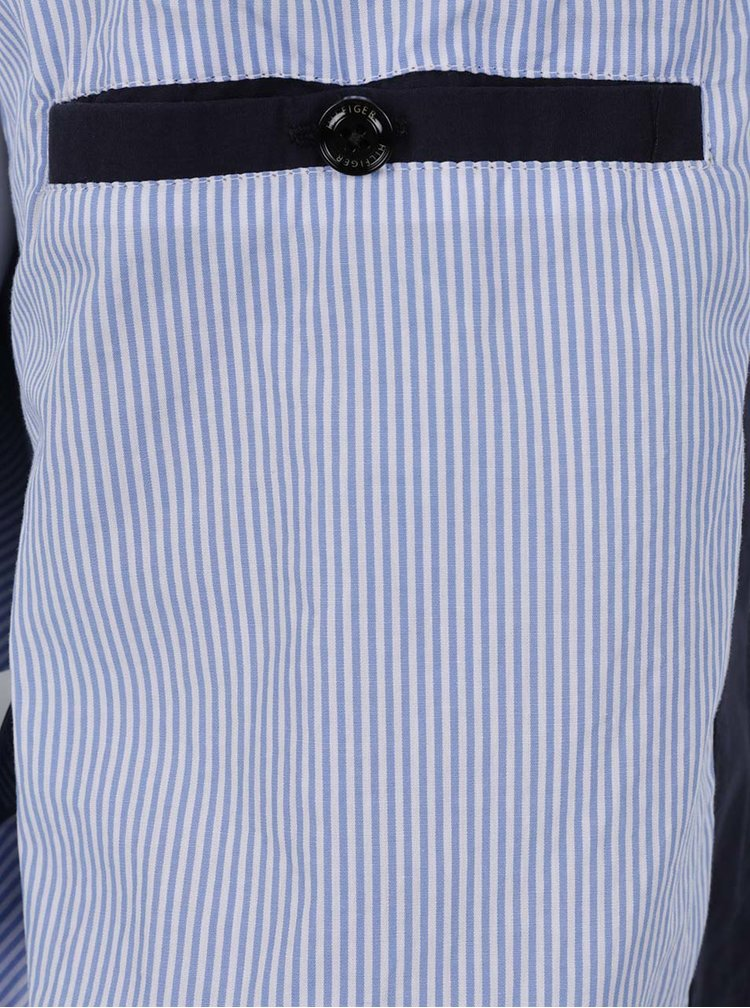 Tmavě modrá pánská bunda na zip Tommy Hilfiger