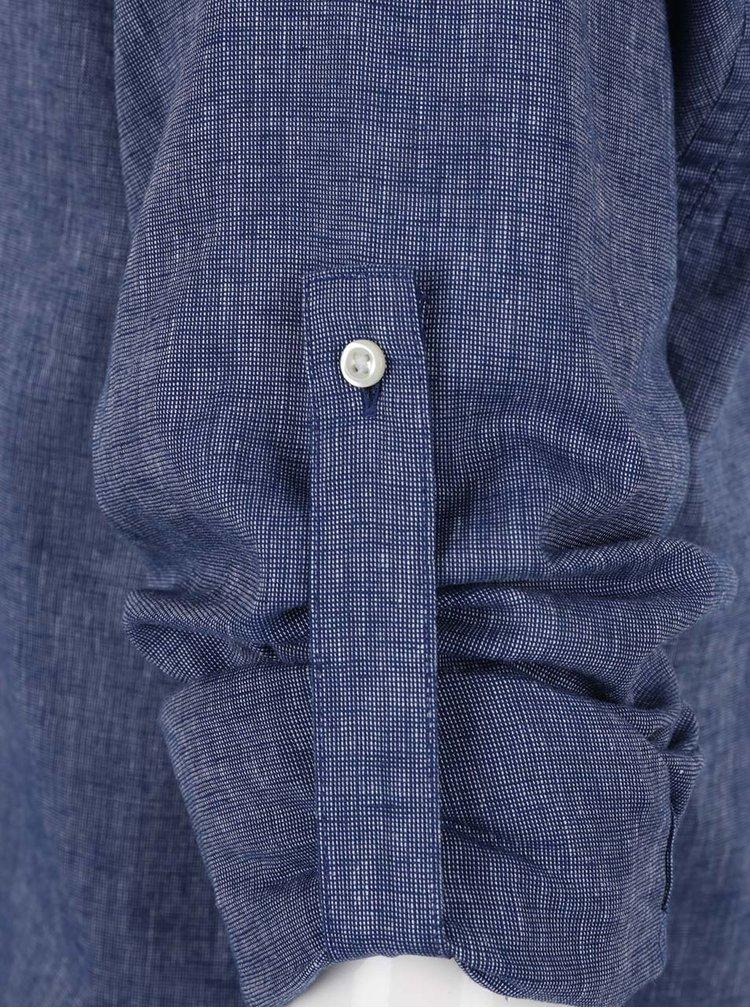 Modrá pánská lněná košile Tommy Hilfiger