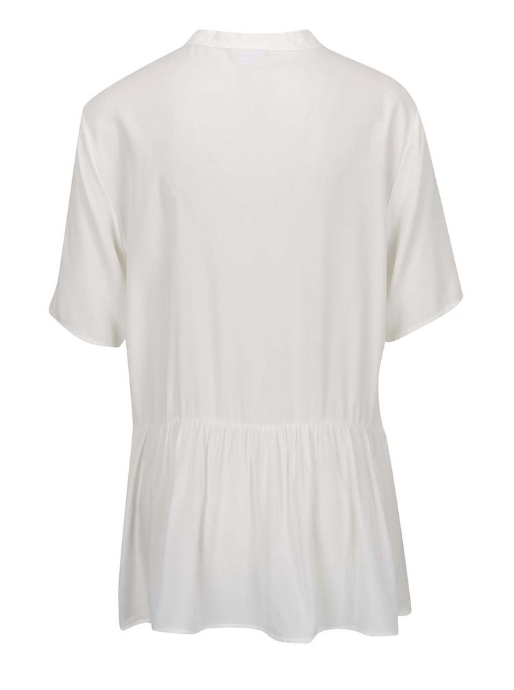 Bluza crem Jacqueline de Yong Safira cu guler rotund