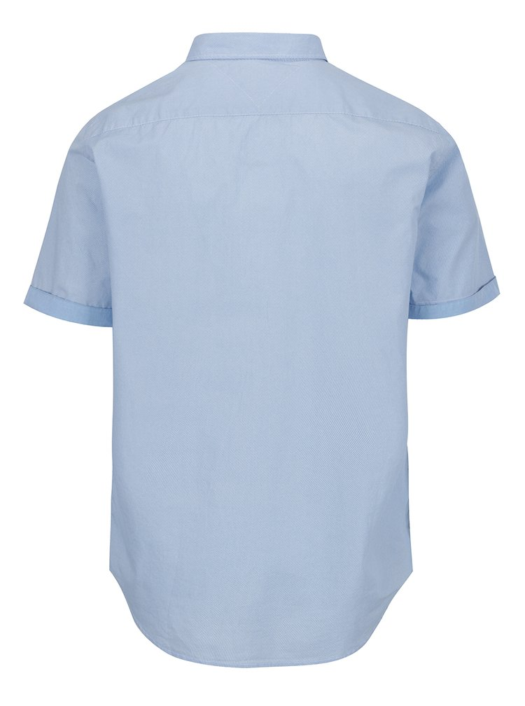 Světle modrá pánská vzorovaná košile s krátkým rukávem Tommy Hilfiger