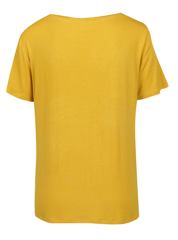 Žluté volné tričko VILA Nene